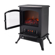 Metal Electric 1000W Fireplace Quartz Tube Heater Fire Flame Stove Adjustaable