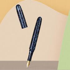Liy Blue Resin Fountain Pen, Schmidt Ef/ F Nib Beautiful Ink Pen Writing Gift