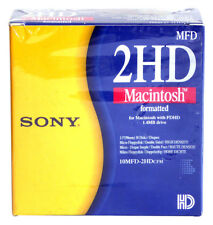 "SONY → 10MFD-2HD CFM → 2HD Macintosh Formatted 3,5"" Diskettes → Caja 10 disc"
