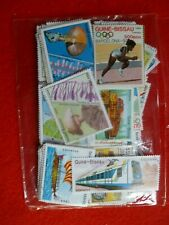GUINEA-BISSAU 260 DIFFERENT  USED THEMATICS STAMPS OLYMPICS FUNGHI ETC
