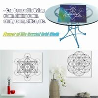 "20"" x  20"" Flower of life Crystal Grid Cloth Sacred Geometry Healing Tablecloth"