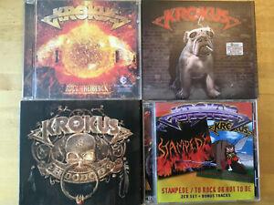 Krokus [4 CD Alben] Stampede to Rock Or Not Be + Block + Hoodooo +Dirty Dynamite