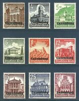 DR Nazi Reich Rare WW2 Stamp Hitler Luxembourg Nothilfe Gothic Church Castle War