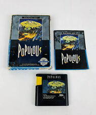 Populous Complete for Sega Genesis System *TESTED & AUTHENTIC*