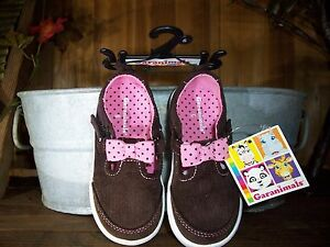 GARANIMALS GIRLS TODDLER CASUAL SHOES SIZE 3 COLOR BROWN PINK BOW EASTER SHOES