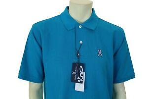 Psycho Bunny Classic Men's Solid Blue Polo Shirt Enamel Size XL Retail