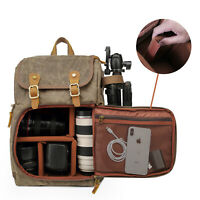 Canvas Photography Bag Camera Backpack for Cannon/Nikon/Sony DSLR SLR