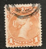 #23 - Canada - 1868 - 1 Cent - Used  - F - superfleas