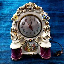 Vintage Sessions Electric Ceramic Mantel Clock Fragonard Love Story Motif Works