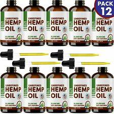 12 Pack Hemp Oil For Pain Relief, Anxiety, Sleep 30000 mg