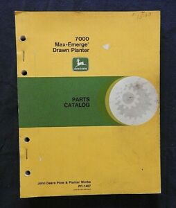 JOHN DEERE 7000 4-6-8-12 ROW NARROW WIDE DRAWN MAX-EMERGE PLANTER PARTS CATALOG