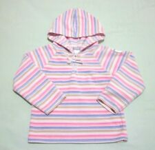 Carter's hooded fleece sweater, long sleeve, multi-color, striped, 4T