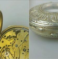montre  demi savonnette â sonnerie des quarts vers 1850 en argent et vermeil