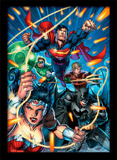DC Comics Justice League Attack - Framed 30 x 40 Official Print