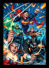 DC Comics Liga De La Justicia ataque-Enmarcado 30 X 40 impresión oficial