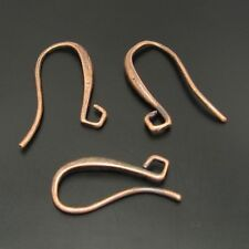 24pcs Red Copper Color Brass Earring Hook Jewelry Craft Accessory Findings