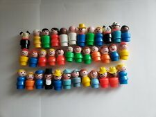 Lot of 36 Vintage Fisher Price Play Family Little People & Dogs