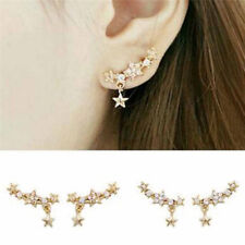 Star Crystal Rhinestone Ear Stud Earring Eardrop Earrings Women Jewelry IU
