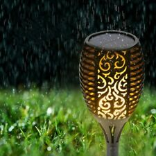4Pack Solar Flickering Landscape Lamps Ground Fix Garden Lawn Flame Lights LAMP