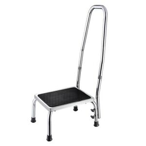 Non-Slip Medical Step Stool with Handrail for Bath Elderly Care Mobility Aid