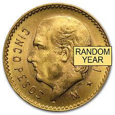 Random Year 0.1205 oz Mexican 5 Pesos Gold Coin