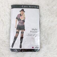 Leg Avenue Women's Mafia Princess Sexy Mobster Adult Costume 2pc Dress Shrug NIP