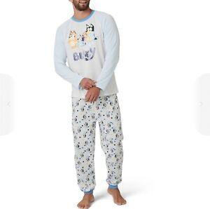 New Genuine Size M/ L/ XL/ 2XL/ 3XL/ 4XL Bluey MEN Dad Pyjama PJ Set *Matching*