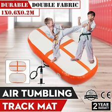 100x60CM Inflatable Air Track Floor Tumbling Gym Mat W/Pump NEW GENERATION