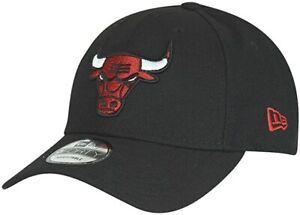 New Era Uomo 9FORTY Chicago Bulls Cappello Baseball Nero Snapback