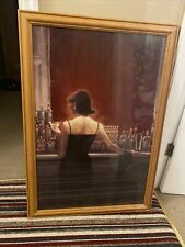 More details for art repro brent lynch print evening lounge pine frame collection coventry