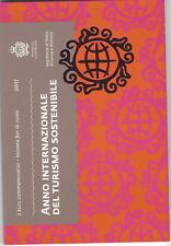 2 Euro Gedenkmünze 2017 aus San Marino, Tourismus, Klappfolder