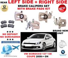 para VW SCIROCCO TRASERO Calibrador Izquierdo + DERECHO CON Pastillas Set