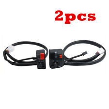 2x 7/8in Motorcycle Handlebar Switch Lights On & Off/Hi & Low Beam/Kill Switch