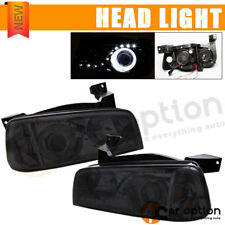 Fits 05-10 Charger Smoke LED Halo Projector Headlights Lamps + Xenon HID 8000K