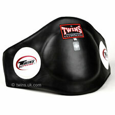 Twins BEPL2 Black Leather Belly Pad Muay Thai Kick Boxing Training Protection