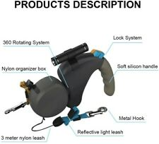 New listing Nib Dual Dogs Retractable Leash with Flashlight