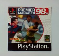 *FRONT INLAY ONLY* Premier Manager 98 Front Inlay  PS1 PSOne Playstation