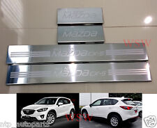4 DOOR STAINLESS STEEL SCUFF PLATE SILL GUARDS FOR MAZDA CX5 CX-5 HATCHBACK 12+