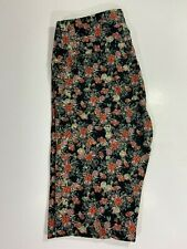 Lularoe Leggings OS / BLACK with MULTICOLORED Floral Prints