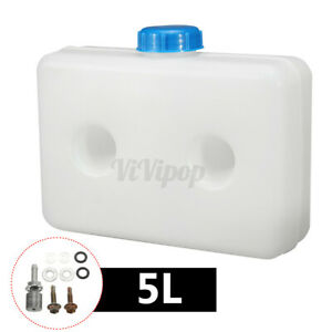 5.5 L Plastic Fuel Oil Gasoline White Tank Fits Car Truck Diesel Parking Heater