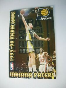 INDIANA PACERS OFFICIAL NBA MEDIA GUIDE 216 PAGES COMPLETE ORIG. BOOK 1995-1996