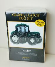 Mcg Textiles Latch Hook Rug Kit Graph N Latch Shaped Farm Tractor Hooked Sealed