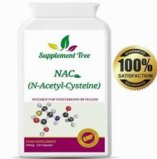 NAC N Acetyl L Cysteine 600mg 120 Capsules Liver & Lung Function Support UK Made