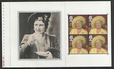 (QM4) GB QEII Stamps QUEEN MOTHER  Prestige Booklet Pane ex DX25 2000