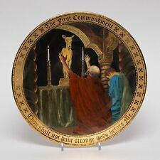 Danbury Mint 24K Gold The First Commandment Collectible Plate Mary Mayo 1995