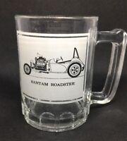 Bantam Roadster Clear Beer Glass Novelty Vintage Car Mug Car Info Print