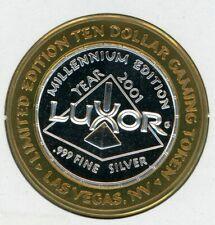.999 Silver Strike $10 Token; Luxor Casino, Las Vegas -- 2001, King Tutankhamun