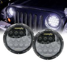 "White 7"" Round Led Headlights Lights For Suzuki Nissan Patrol Y60 Jeep TJ JK"