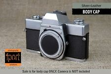 Voigtlander Bessa M LM mount Silver Metallic Leather Body Cap R4 A T R2M R3M R3A