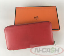 BIDSALEONLY! AUTHENTIC $3200 HERMES Bougainvillier Epsom Azap Silk Zippy Wallet